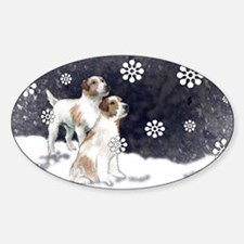 jack russell in the snow Decal