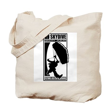 Gravity Fueled Canopy Skydiving Tote Bag