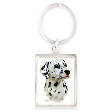 Dalmatian Portrait Keychain