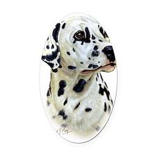 Dalmatian Oval Car Magnet