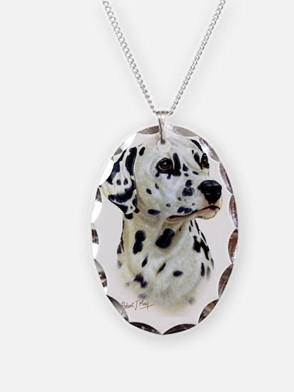 Dalmatian Necklace Oval Charm