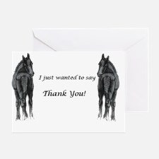 2 foals Thank You Greeting Card