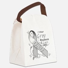 I Wear Grey Because I Love My Dad Canvas Lunch Bag