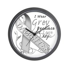 I Wear Grey Because I Love My Daughter Wall Clock