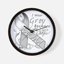 I Wear Grey Because I Love My Mom Wall Clock