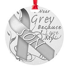 I Wear Grey Because I Love My Son Ornament