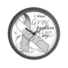 I Wear Grey Because I Love My Son Wall Clock