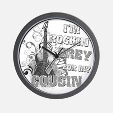 Im Rockin Grey for my Cousin Wall Clock