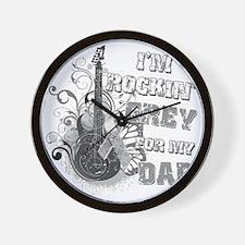 Im Rockin Grey for my Dad Wall Clock