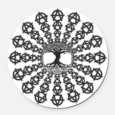 Anarchy tree of life Round Car Magnet