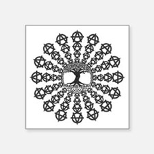 "Anarchy tree of life Square Sticker 3"" x 3"""