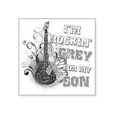 "Im Rockin Grey for my Son Square Sticker 3"" x 3"""