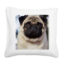 Pug AA014D-018 Square Canvas Pillow