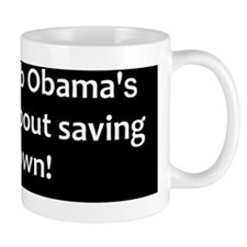 anti obama saving his job2bumpd Mug