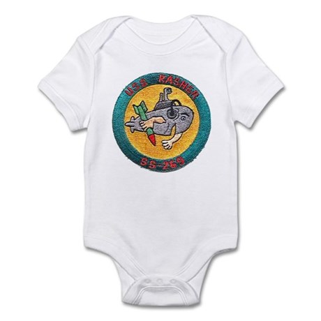 USS RASHER Infant Bodysuit