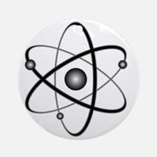 10x10_apparel_Atom Round Ornament
