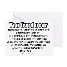 jamaica shirts you lived near black Greeting Card