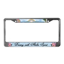 "License Plate Frame ""Aloha Spirit"""