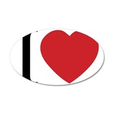 I HEART 35x21 Oval Wall Decal