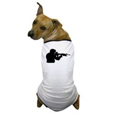 Soldier Silhouette Dog T-Shirt