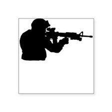 Soldier Silhouette Sticker