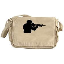 Soldier Silhouette Messenger Bag