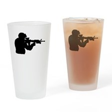 Soldier Silhouette Drinking Glass