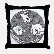 No one is free when others are oppres Throw Pillow