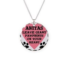 FIN-akita-giant-pawprints-he Necklace