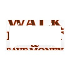 walk License Plate Holder