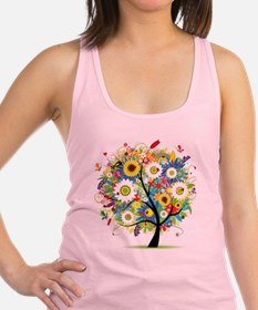 Trees5 [Converted] Racerback Tank Top