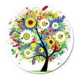 Nature Round Car Magnets