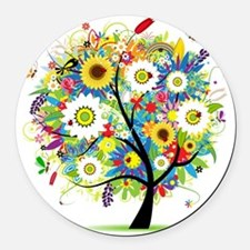 Trees5 [Converted] Round Car Magnet