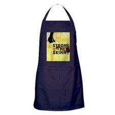 Strong is the New Skinny - Poster Apron (dark)