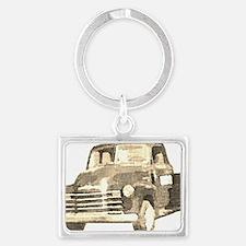 054-TruckOnly-vintage-clear Landscape Keychain