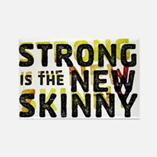 Strong is the New Skinny - Double Rectangle Magnet
