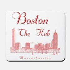 Boston_10x10_Skyline_TheHub_Red Mousepad