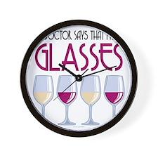 Wine-Glasses Wall Clock