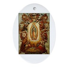 Apparitions of Guadalupe Oval Ornament