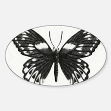 butterflydarksm Sticker (Oval)
