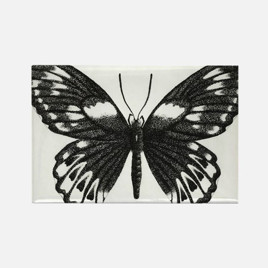 butterflydarksm Rectangle Magnet