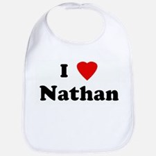 I Love Nathan Bib