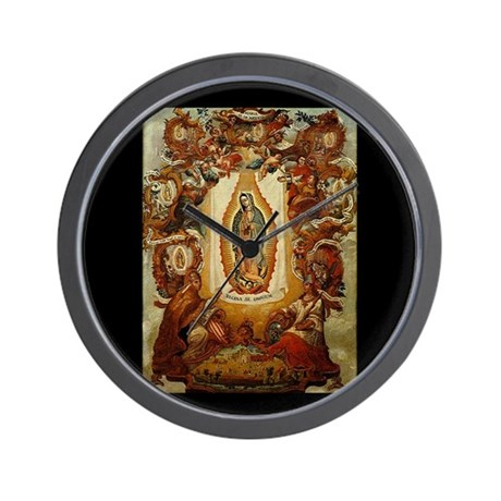 Apparitions of Guadalupe Wall Clock