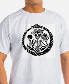 Wall Clock Skeleton and snake T-Shirt