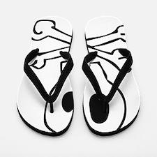 CartoonSkull Flip Flops