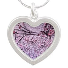 Chouette Silver Heart Necklace