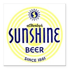 "sunshinebeer Square Car Magnet 3"" x 3"""
