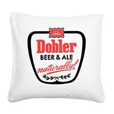 doblerbeerwhite Square Canvas Pillow