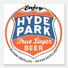"hydeparkbeerwhite Square Car Magnet 3"" x 3"""