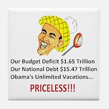 Anti Obama - Pricel... Tile Coaster